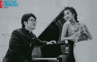 Hai tài năng trẻ Việt Nam hội ngộ trong đêm nhạc Pháp ở Hà Nội