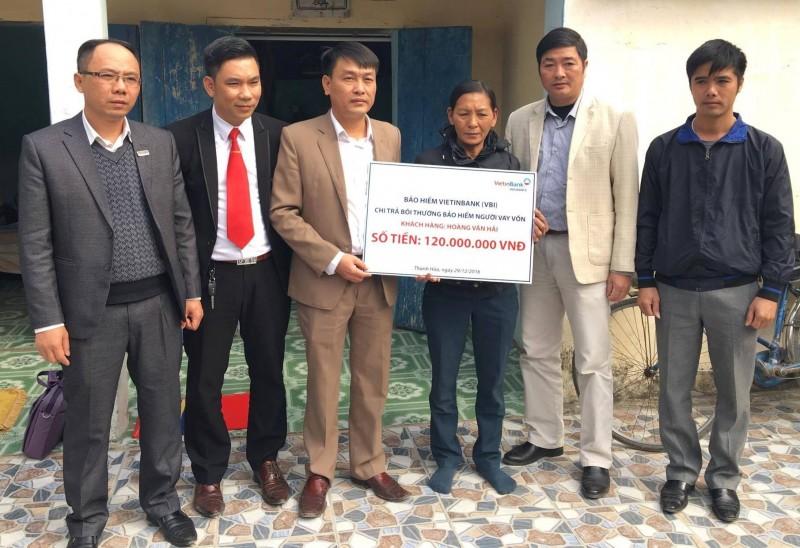 VBI chi trả 120 triệu đồng bồi thường bảo hiểm tại Thanh Hóa