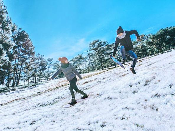 """""""Thiên đường tuyết trắng"""" ở Đà Lạt"""