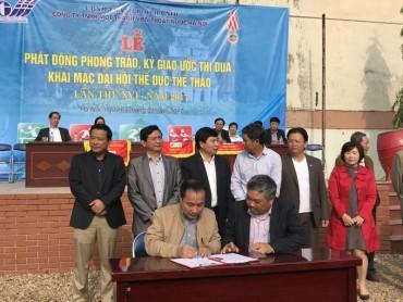 Công ty Thoát nước Hà Nội ký giao ước thi đua 2017
