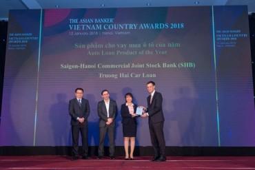 Asian Banker vinh danh SHB là ngân hàng có sản phẩm cho vay mua ô tô của năm