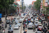 Nhiều tuyến đường thường xuyên ùn tắc trong những ngày gần Tết