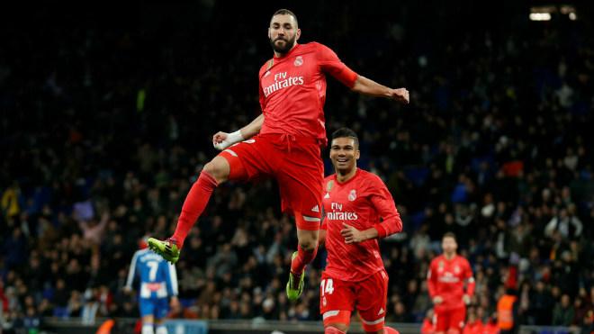 Espanyol 2-4 Real Madrid: 'Kền kền' sải cánh trong ngày Benzema tỏa sáng