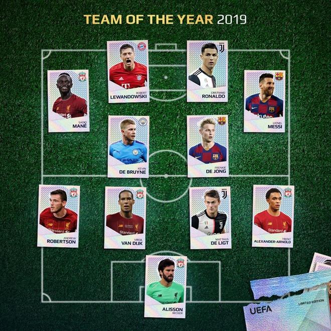 Đội hình xuất sắc nhất 2019 của UEFA: Liverpool và phần còn lại