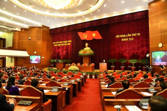 Bế mạc Hội nghị lần thứ 15 Ban Chấp hành Trung ương Đảng khóa XII