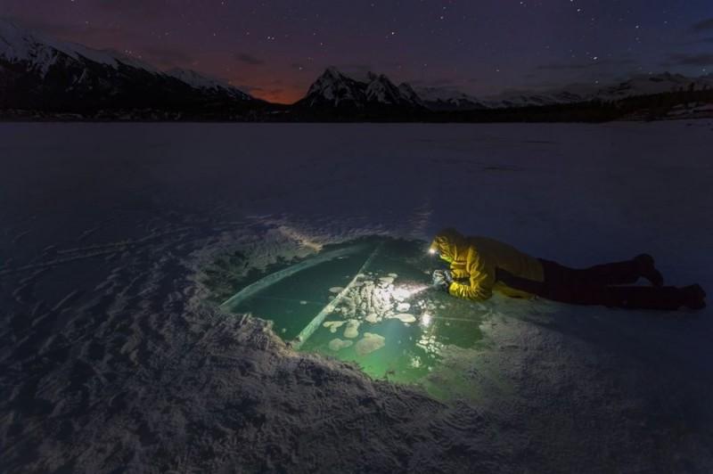 Ảnh đẹp trong tuần: Kỳ thú vẻ đẹp hồ băng bong bóng ở Canada