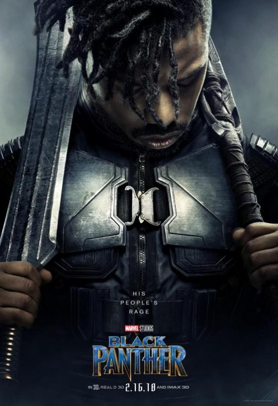 ngam loat poster nhan vat cuc ngau cua black panther chien binh bao den