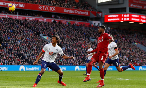 liverpool 3 0 bournemouth doi lai ngoi dau