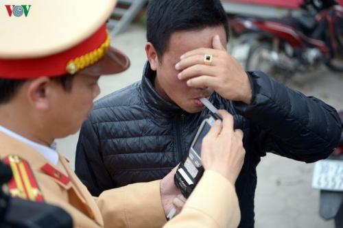 Cảnh sát giao thông vẫn xử lý nghiêm vi phạm nồng độ cồn