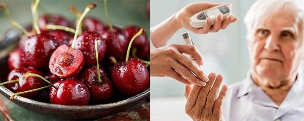 Cherry (Anh đào) là loại trái cây tuyệt vời cho người bệnh tiểu đường. Đồ hoạ: Phương Linh.