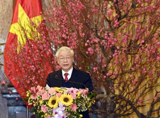 Tổng Bí thư, Chủ tịch nước Nguyễn Phú Trọng chúc Tết các đồng chí lãnh đạo, nguyên lãnh đạo Đảng, Nhà nước