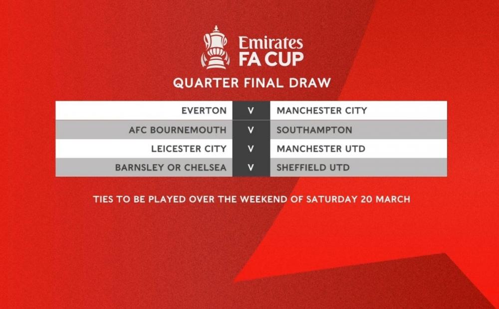 Bốc thăm tứ kết FA Cup: Thành Manchester gặp những đối thủ