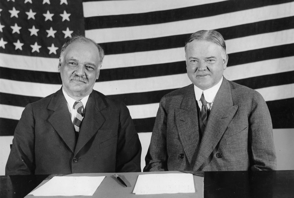 Phó Tổng thống Curtis và Tổng thống Hoover năm 1929. Ảnh: Getty