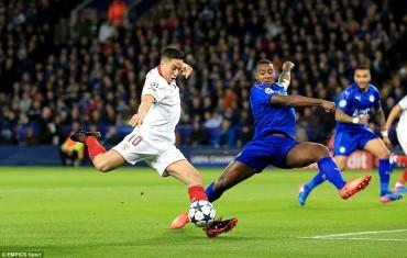 Ngược dòng hạ Sevilla, Leicester vào tứ kết Champions League