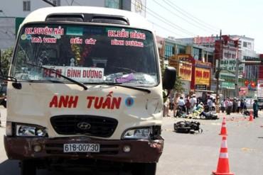 Bắt tạm giam lái xe khách đâm hàng loạt xe chờ đèn đỏ, 5 người bị thương nặng