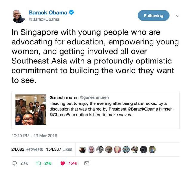 cuu tong thong barack obama doi thoai voi 10 thu linh sinh vien khu vuc asean