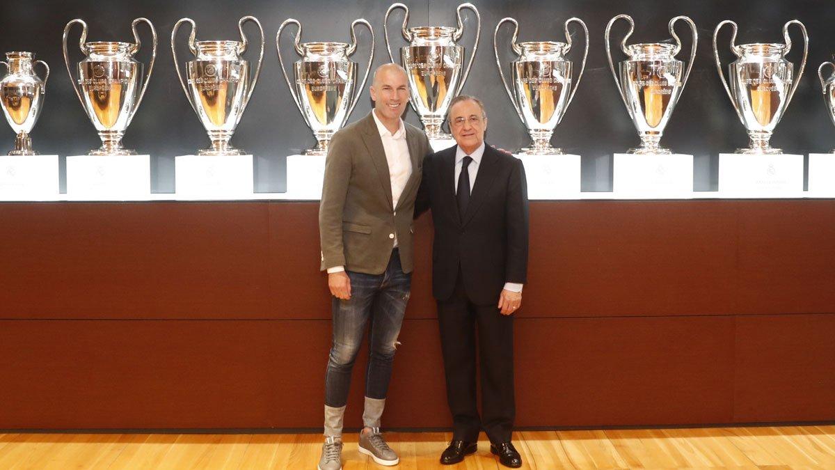 Zidane chính thức trở lại dẫn dắt Real Madrid