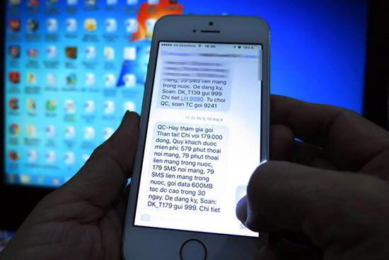 Gửi tin nhắn rác bị phạt tới 80 triệu đồng