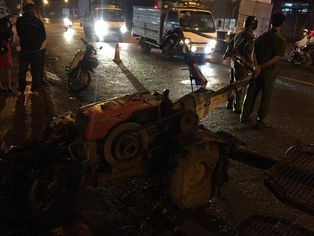 Tai nạn liên hoàn, xe công nông trôi tự do tông gãy chân một phụ nữ