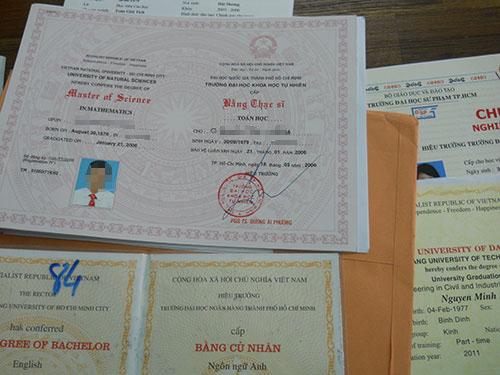 Hà Nội: Phá ổ nhóm làm giả bằng tiến sỹ và bán giá 3 triệu đồng