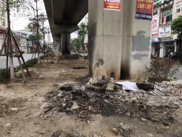 Lem nhem gầm đường sắt đô thị Cát Linh - Hà Đông