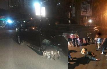 Hà Nội: Bắt khẩn cấp lái xe ô tô kéo lê người và xe máy trên phố