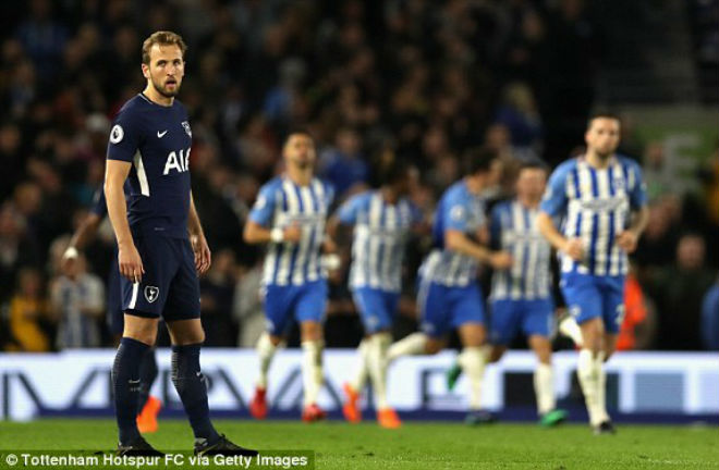 Brighton 1-1 Tottenham: Mình H.Kane là không đủ