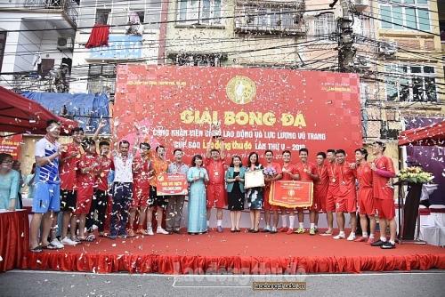 Bế mạc Giải bóng đá CNVCLĐ và LLVT Cúp báo Lao động Thủ đô lần thứ V-2019