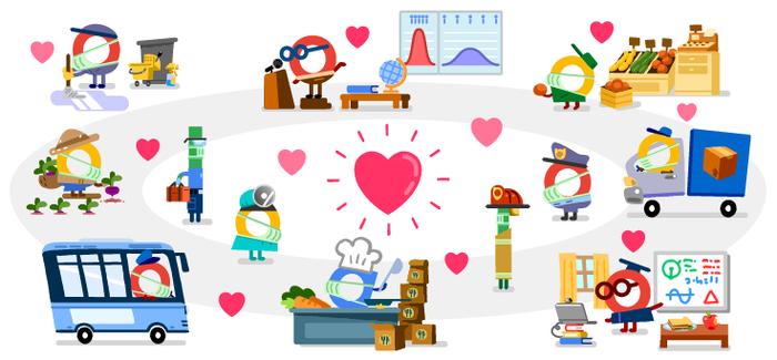 Google Doodle khởi động tuần cảm ơn những chiến sĩ thầm lặng trong cuộc chiến với Covid-19