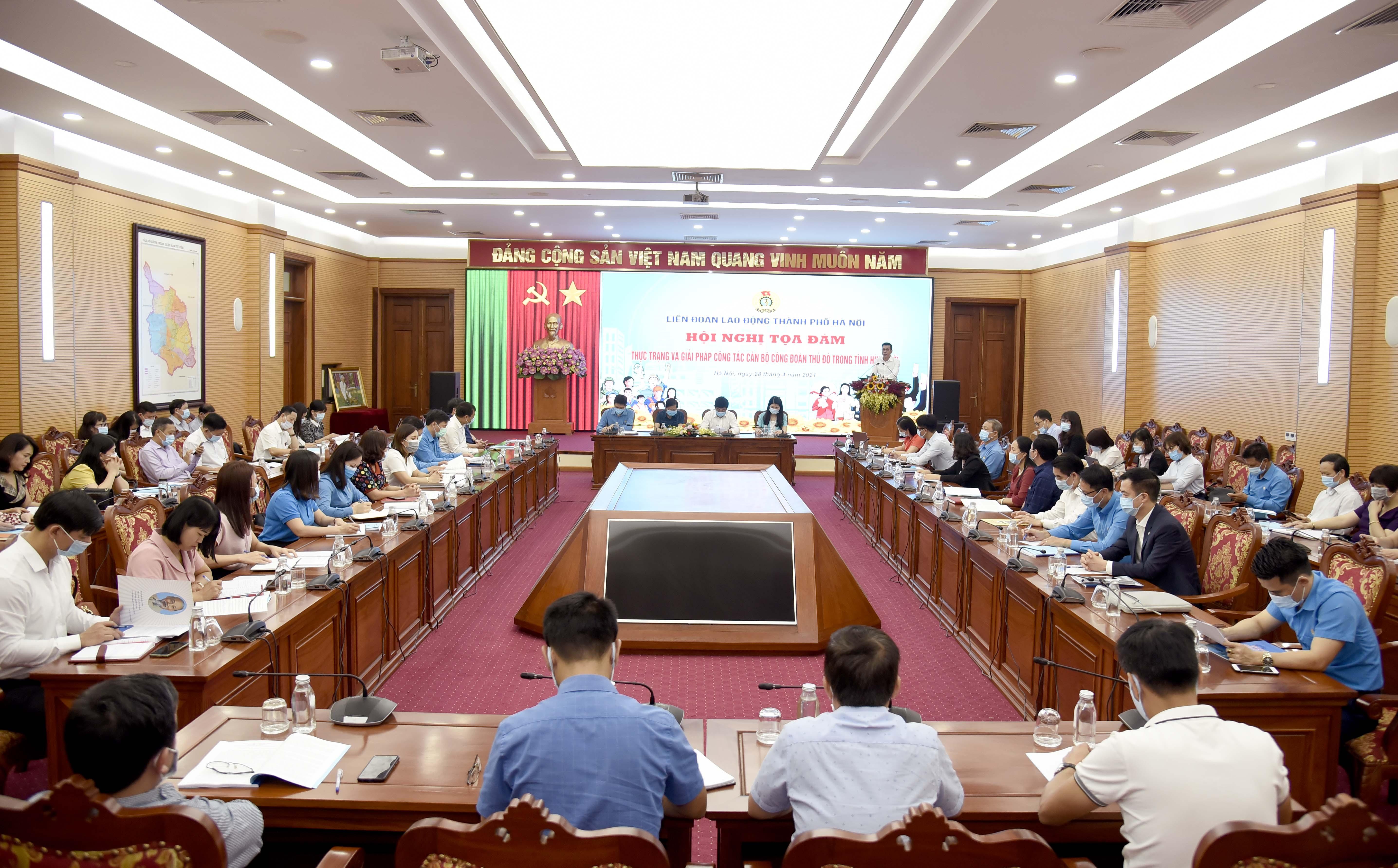 Trực tuyến tọa đàm: Thực trạng và giải pháp về công tác cán bộ Công đoàn Thủ đô trong tình hình mới