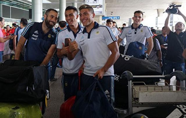 U20 Argentina đã có mặt tại Việt Nam