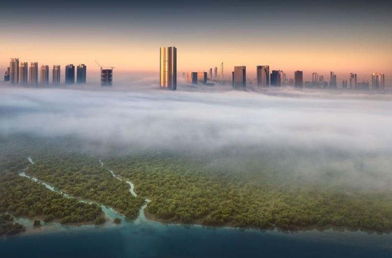 Ảnh đẹp trong tuần: Kỳ ảo đường chân trời ở Abu Dhabi