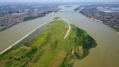 Sông Hồng đẹp thơ mộng nhìn từ không trung