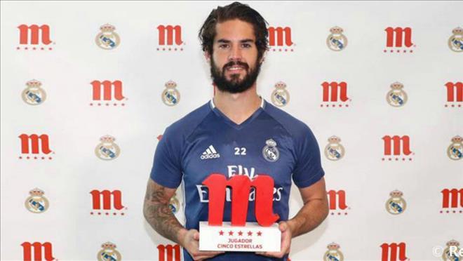Isco giành danh hiệu cầu thủ xuất sắc nhất mùa giải ở Real