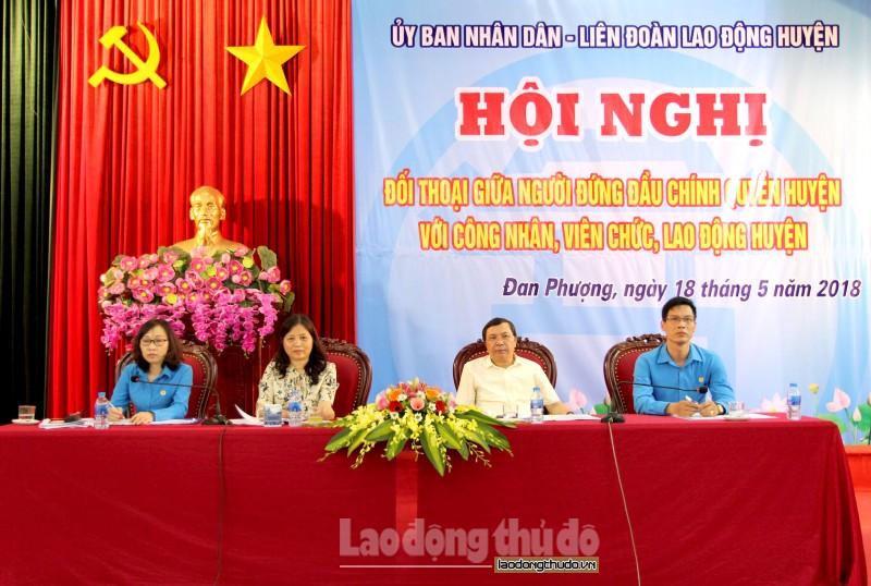 Lãnh đạo huyện Đan Phượng lắng nghe tâm tư nguyện vọng CNVCLĐ