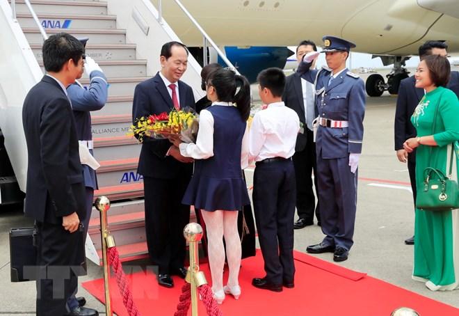 Chủ tịch nước và Phu nhân bắt đầu thăm cấp Nhà nước tới Nhật Bản