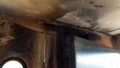 Tàu hỏa đang lưu thông bất ngờ bốc cháy
