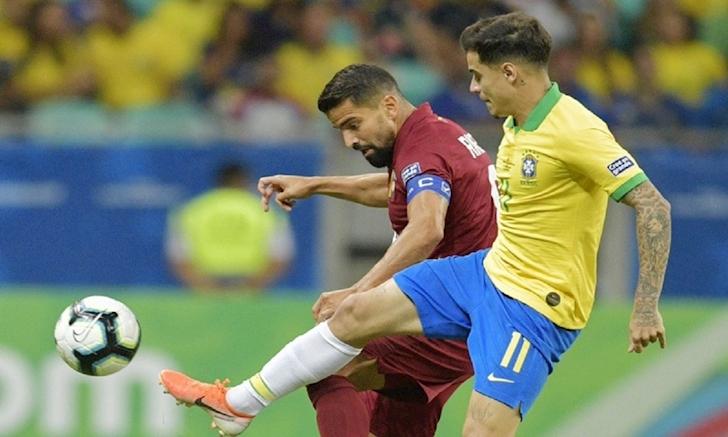 brazil 0 0 venezuela 3 lan mung hut brazil chia diem truoc venezuela