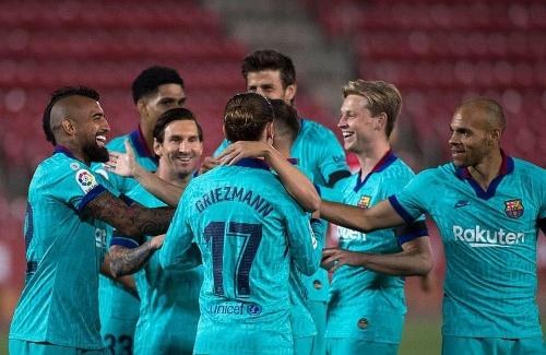 Barcelona hủy diệt Mallorca ngày La Liga trở lại