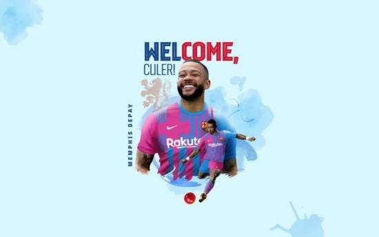 Memphis Depay chính thức gia nhập Barcelona