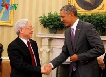 Tổng Bí thư Nguyễn Phú Trọng hội đàm với Tổng thống Mỹ Barack Obama