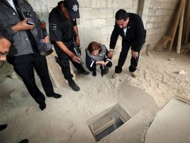 Cận cảnh đường hầm giúp trùm ma túy Mexico đào thoát