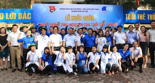 Lễ xuất quân hoạt động tình nguyện của tuổi trẻ Thủ đô