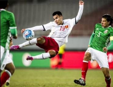 Lật cổ chân, Đức Huy sớm chia tay vòng loại giải U23 châu Á 2018