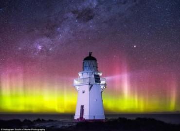 Mê hoặc đường chân trời đầy màu sắc ở New Zealand