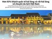 93% khách quốc tế hài lòng và rất hài lòng về chuyến du lịch Việt Nam