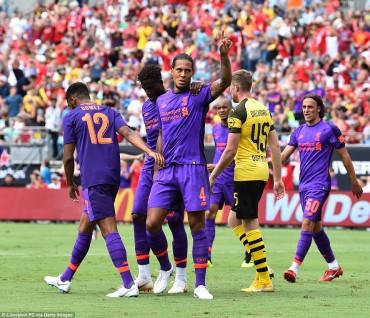 Liverpool 1-3 Dortmund: Khởi đầu khó khăn