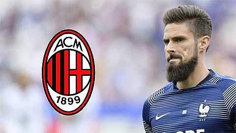 Olivier Giroud hoàn tất thủ tục kiểm tra y tế để gia nhập Milan