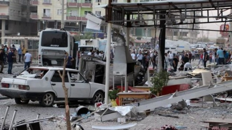 Hình ảnh Thổ Nhĩ Kỳ tan hoang vì bom kép ở phía đông nam