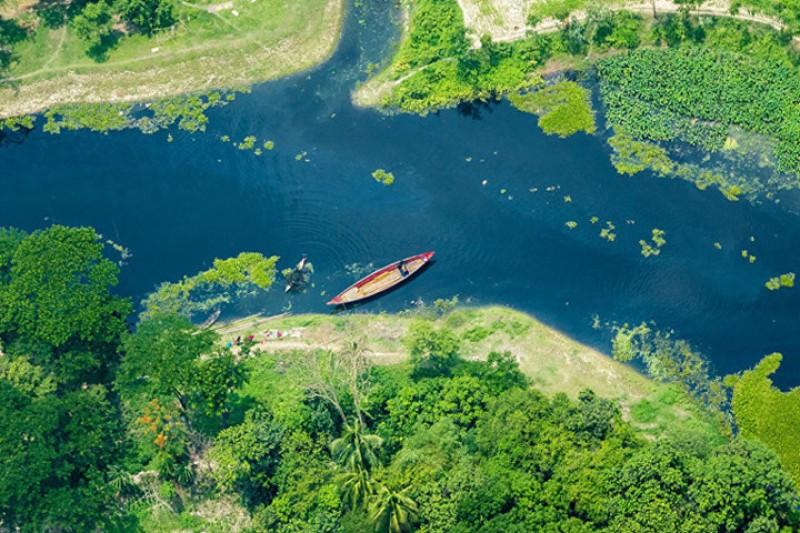 Ngỡ ngàng trước vẻ đẹp của đất nước Bangladesh nhìn từ không trung
